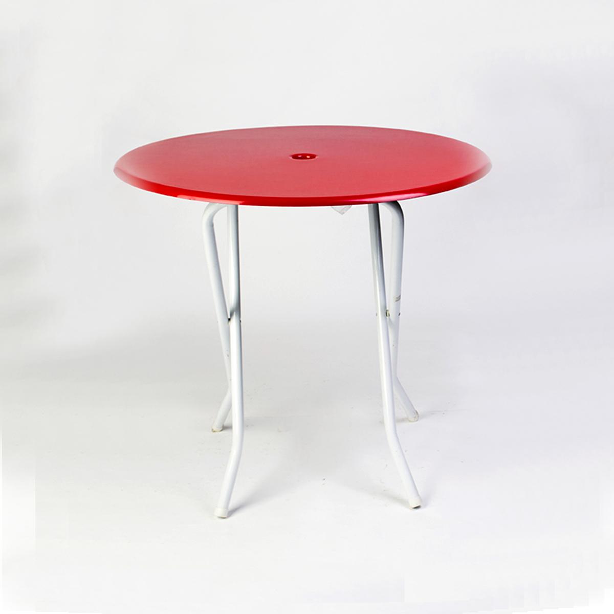 Mesa plegable fibra de vidrio Roja